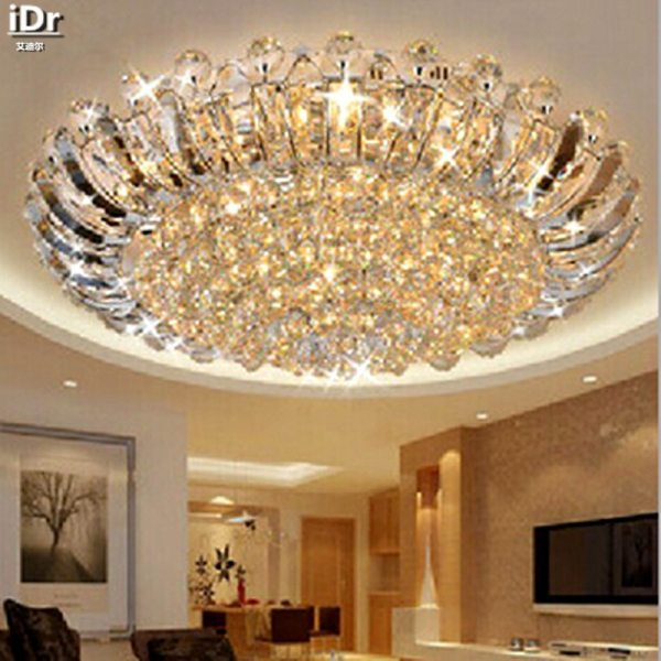 Contemporary luxury crystal ceiling circular living room lights LED lighting Bedroom Ceiling Lights 100 quality guarantee Contemporary Ceiling Lights | Crystal Ceiling Lights | Contemporary luxury crystal ceiling circular living room lights LED lighting Bedroom Ceiling Lights  100% quality guarantee