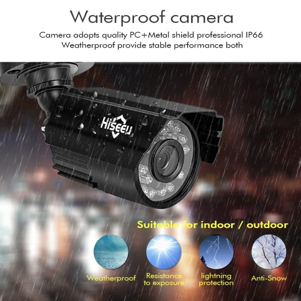 Hiseeu CCTV camera System 4CH 720P 1080P AHD security Camera DVR Kit CCTV waterproof Outdoor home 1 Hiseeu CCTV camera System 4CH 720P/1080P AHD security Camera DVR Kit CCTV waterproof Outdoor home Video Surveillance System HDD