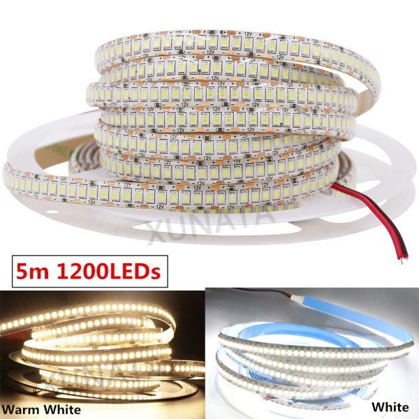 LED Strip 2835 SMD 240LEDs m 5M 300 600 1200 Leds DC12V High Bright Flexible LED 2 LED Strip 2835 SMD 240LEDs/m 5M 300/600/1200 Leds DC12V High Bright Flexible LED Rope Ribbon Tape Light Warm White / Cold White