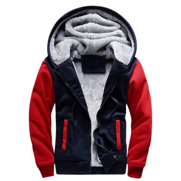 Men Hooded Jacket 2019 Warm Causal Fleece Hooded Outerwear Coats Male Autumn Winter Solid Thick Zipper 1 Men Hooded Jacket 2019 Warm Causal Fleece Hooded Outerwear Coats Male Autumn Winter Solid Thick Zipper Jackets Casacos Masculino