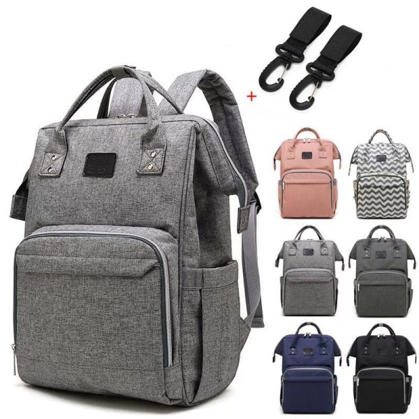 Nappy Backpack Bag Mummy Large Capacity Bag Mom Baby Multi function Waterproof Outdoor Travel Diaper Bags Nappy Backpack Bag Mummy Large Capacity Bag Mom Baby Multi-function Waterproof Outdoor Travel Diaper Bags For Baby Care