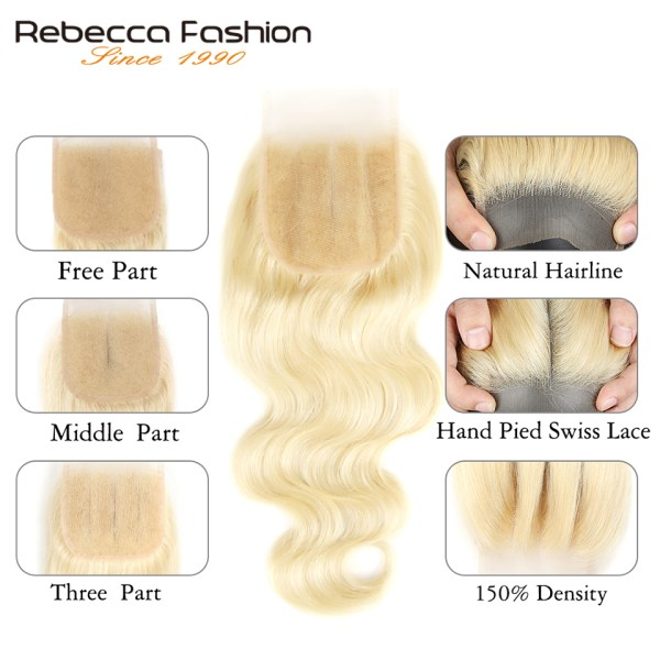 Rebecca 613 Blonde Bundles With Closure Brazilian Body Wave Remy Human Hair Weave Bundles 613 Honey 2 Rebecca 613 Blonde Bundles With Closure Brazilian Body Wave Remy Human Hair Weave Bundles 613 Honey Blonde Bundles With Closure