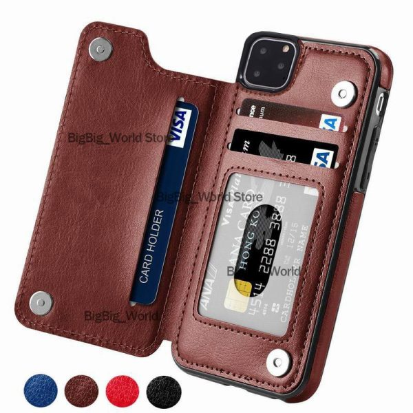 Retro PU Leather Case For iPhone 11 Pro X Xr XS max 6 Card Slot Cover Retro PU Leather Case For iPhone 11 Pro X Xr XS max 6 Card Slot Cover For Samsung S10E S8 S9 S10 Plus S7 Edge Note 8 9 Back Capa