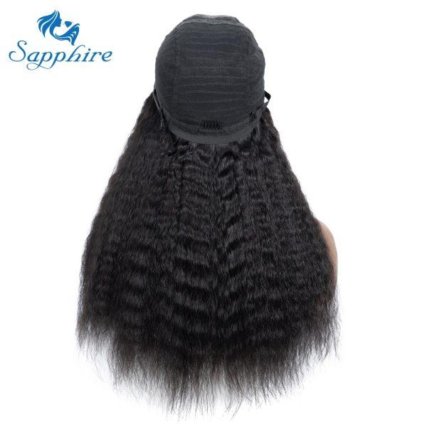 Sapphire 4 4 Deep Part Lace Wigs Brazilian Human Hair Wigs Pre Plucked Yaki Straight Kinky 4 Sapphire 4*4 Deep Part Lace Wigs Brazilian Human Hair Wigs Pre Plucked Yaki Straight Kinky Straight Lace Closure Wigs For Women
