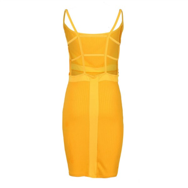 Summer Sexy Bandage Hollow Out Dress Women Fashion Sleeveless Backless Bodycon Party Club Dress Mini Wrap 1 Summer Sexy Bandage Hollow Out Dress Women Fashion Sleeveless Backless Bodycon Party Club Dress Mini Wrap Dress
