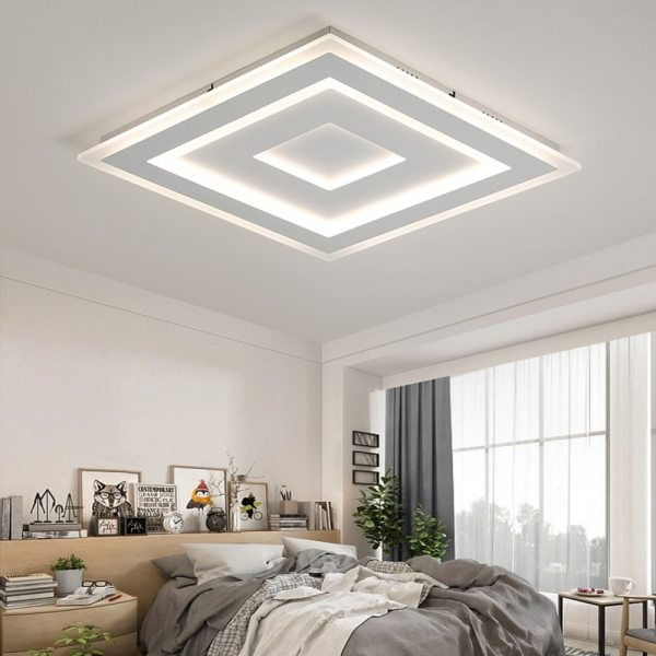 Surface Mounted Modern Led Ceiling Lights for living room bedroom Ultra thin lamparas de techo Rectangle 1 Surface Mounted Modern Led Ceiling Lights for living room bedroom Ultra-thin lamparas de techo Rectangle Ceiling lamp fixtures