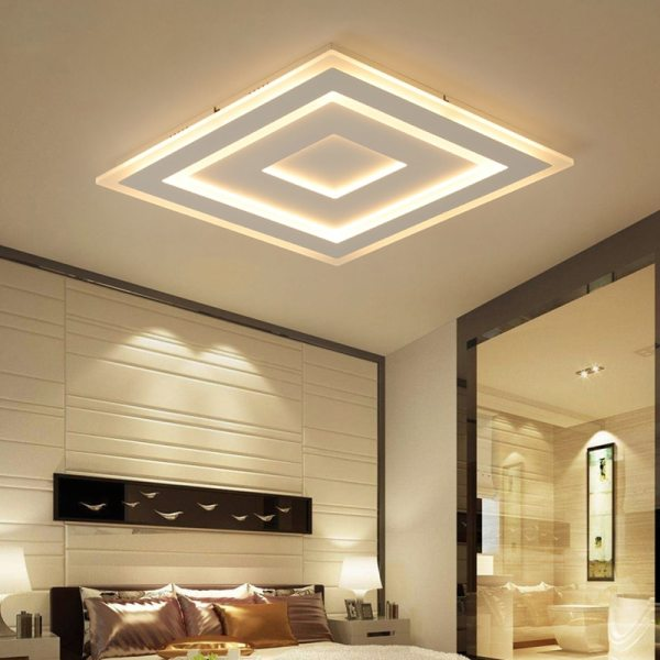 Surface Mounted Modern Led Ceiling Lights for living room bedroom Ultra thin lamparas de techo Rectangle 2 Surface Mounted Modern Led Ceiling Lights for living room bedroom Ultra-thin lamparas de techo Rectangle Ceiling lamp fixtures
