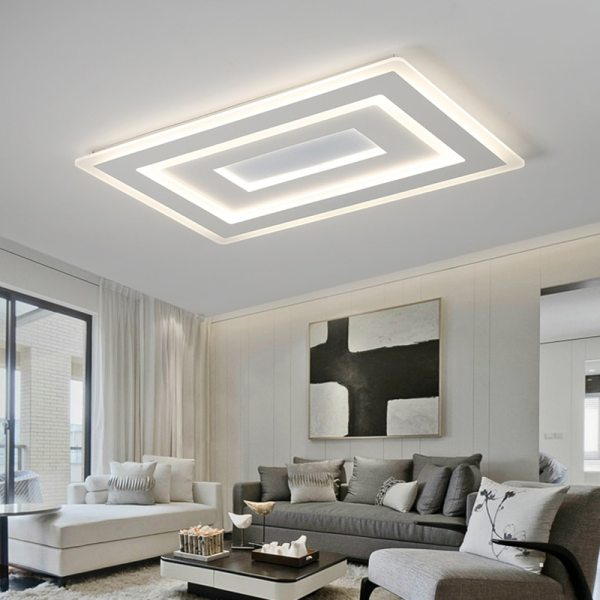 Surface Mounted Modern Led Ceiling Lights for living room bedroom Ultra thin lamparas de techo Rectangle Surface Mounted Modern Led Ceiling Lights for living room bedroom Ultra-thin lamparas de techo Rectangle Ceiling lamp fixtures