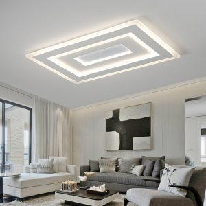 Surface Mounted Modern Led Ceiling Lights for living room bedroom Ultra thin lamparas de techo Rectangle Innrech Market.com