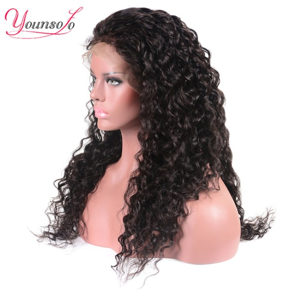 Younsolo 13x4 Lace Front Human Hair Wigs For Black Women Remy Brazilian Water Wave Lace Front 2 Younsolo 13x4 Lace Front Human Hair Wigs For Black Women Remy Brazilian Water Wave Lace Front Wig Pre Plucked With Baby Hair