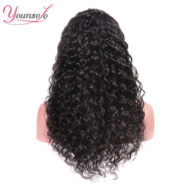 Younsolo 13x4 Lace Front Human Hair Wigs For Black Women Remy Brazilian Water Wave Lace Front 3 Younsolo 13x4 Lace Front Human Hair Wigs For Black Women Remy Brazilian Water Wave Lace Front Wig Pre Plucked With Baby Hair