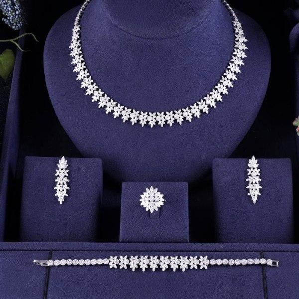 jankelly Nigeria Bridal Zirconia For Women Party Luxury Dubai Necklace Earringa Rings CZ Crystal Wedding Jewelry jankelly Nigeria Bridal Zirconia For Women Party Luxury Dubai Necklace Earringa Rings CZ Crystal Wedding Jewelry Sets