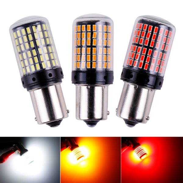 1x 3014 144smd CanBus S25 1156 BA15S P21W LED BAY15D BAU15S PY21W lamp T20 LED 7440 1x 3014 144smd CanBus S25 1156 BA15S P21W LED BAY15D BAU15S PY21W lamp T20 LED 7440 W21W W21/5W led Bulbs For Turn Signal Light