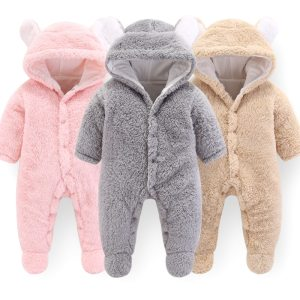 2019 Newborn Baby Winter Hoodie Clothes Polyester Infant Baby Girls Pink Climbing New Spring Outwear Rompers Innrech Market.com