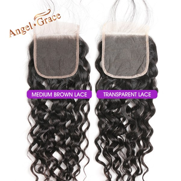 AngelGrace Hair Water Wave Bundles With Closure Remy Human Hair 3 Bundles With Closure Brazilian Hair 2 AngelGrace Hair Water Wave Bundles With Closure Remy Human Hair 3 Bundles With Closure Brazilian Hair Weave Bundles With Closure