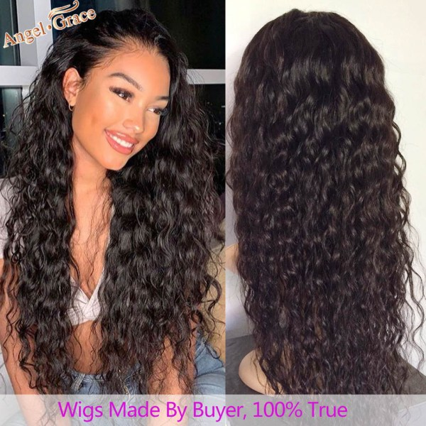AngelGrace Hair Water Wave Bundles With Closure Remy Human Hair 3 Bundles With Closure Brazilian Hair 4 AngelGrace Hair Water Wave Bundles With Closure Remy Human Hair 3 Bundles With Closure Brazilian Hair Weave Bundles With Closure