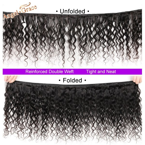 AngelGrace Hair Water Wave Bundles With Closure Remy Human Hair 3 Bundles With Closure Brazilian Hair AngelGrace Hair Water Wave Bundles With Closure Remy Human Hair 3 Bundles With Closure Brazilian Hair Weave Bundles With Closure