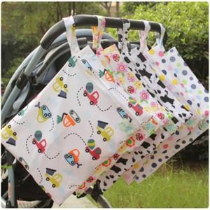 Baby 30 40cm Diaper Bag Infant Waterproof Reusable Wet Dry Bag Print Pocket Nappy Bag Travel Innrech Market.com