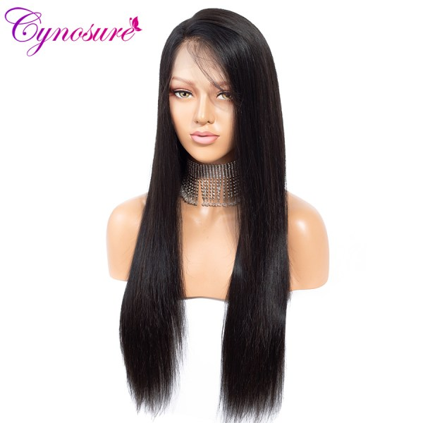 Cynosure 4x4 Straight Lace Closure Wig Brazilian Lace Closure Human Hair Wigs Pre Plucked with Baby 1 Cynosure 4x4 Straight Lace Closure Wig Brazilian Lace Closure Human Hair Wigs Pre-Plucked with Baby Hair Remy