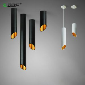 DBF LED Surface Mounted Ceiling Lamp with 1m Wire Hanging 7W White Black AC85 265V Innrech Market.com