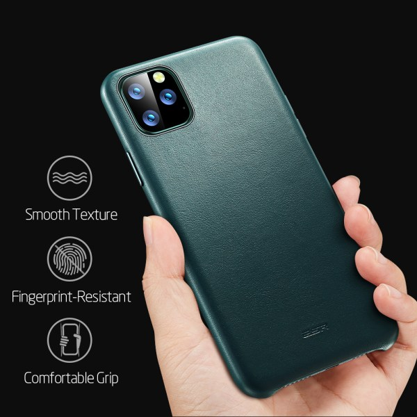 ESR Case for iPhone 11 Pro Max Leather Case Cover Brand Black Green Genuine Leather Protective 2 ESR Case for iPhone 11 Pro Max Leather Case Cover Brand Black Green Genuine Leather Protective Cover for iPhone 11 2019 11pro