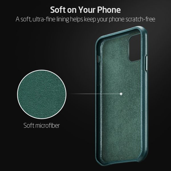 ESR Case for iPhone 11 Pro Max Leather Case Cover Brand Black Green Genuine Leather Protective 3 ESR Case for iPhone 11 Pro Max Leather Case Cover Brand Black Green Genuine Leather Protective Cover for iPhone 11 2019 11pro