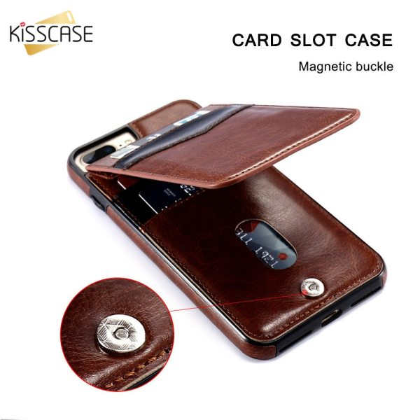 KISSCASE Vertical Flip Card Holder Leather Case For iPhone 6s Cover For iPhone 7 Wallet Case KISSCASE Vertical Flip Card Holder Leather Case For iPhone 6s Cover For iPhone 7 Wallet Case 8 XR 11PRO MAX 11 чехол на айфон 6s