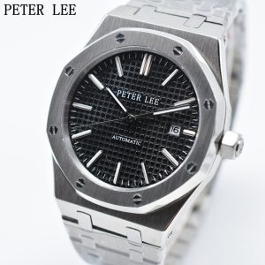 PETER LEE Brand Luxury Full Steel Silver Waterproof Automatic Mechanical Men Watches Bracelet Dial 40mm Fashion Innrech Market.com