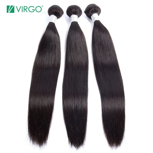 Peruvian Straight Hair Bundle with closure 3 bundle human hair weave Virgo Hair lace frontal closure 3 Peruvian Straight Hair Bundle with closure 3 bundle human hair weave Virgo Hair lace frontal closure with bundles 4 pcs remy