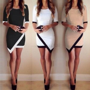 2018 Fashion Dress Women Bandage Bodycon Half Sleeve Evening Sexy Party Mini Dress Ladies Short Mini Innrech Market.com
