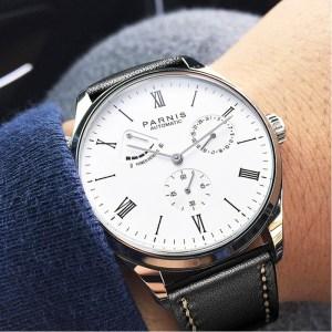 2019 Luxury Man Parnis Power Reserve Automatic Watch Mechanical Self Winding Men Watches mekanik kol saati Innrech Market.com