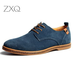 2019 fashion men casual shoes new spring men flats lace up male suede oxfords men leather Innrech Market.com