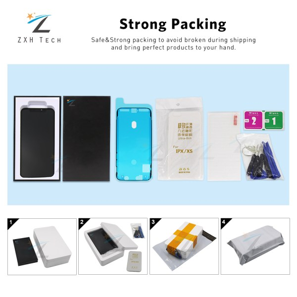 AAA For iPhone X OLED With 3D Touch Digitizer Assembly No Dead Pixel LCD Screen Replacement 4 AAA+++ For iPhone X OLED With 3D Touch Digitizer Assembly No Dead Pixel LCD Screen Replacement Display For iPhoneX LCD with Gift