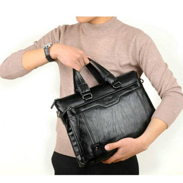 Cowhide Leather men s Briefcase men laptop male messenger bag Men s shoulder bags briefcases for 1 Cowhide Leather men's Briefcase men laptop male messenger bag Men's shoulder bags briefcases for documents bag