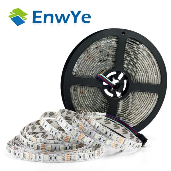 EnwYe 5M 300Leds waterproof RGB Led Strip Light 3528 5050 DC12V 60Leds M Fiexble Light Led EnwYe 5M 300Leds waterproof RGB Led Strip Light 3528 5050 DC12V 60Leds/M Fiexble Light Led Ribbon Tape Home Decoration Lamp