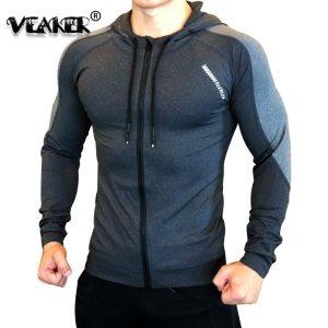 Gym Jacket Men Sports Coat Fitness Long Sleeve Running Elastic Tight Hoodies Zipper Slim Hiking Sweatshirts Innrech Market.com