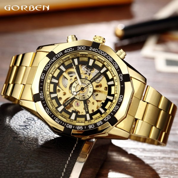 Luxury Silver Automatic Mechanical Watches for Men Skeleton Stainless Steel Self wind Wrist Watch Men Clock 3 Luxury Silver Automatic Mechanical Watches for Men Skeleton Stainless Steel Self-wind Wrist Watch Men Clock relogio masculino