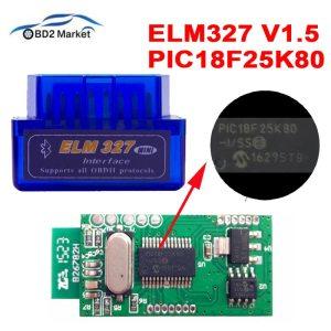 MINI ELM327 V1 5 PIC18F25K80 Bluetooth OBD2 Scanner Diagnostic adapter ELM 327 v1 5 OBD OBDII Innrech Market.com