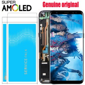 ORIGINAL S8 LCD with frame with Burn Shadow for SAMSUNG Galaxy S8 G950 G950F Display S8 Innrech Market.com