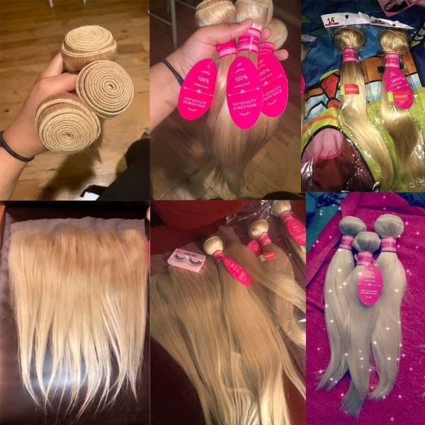 Vallbest 613 Bundles With Frontal Middle Ratio Brazilian Straight Hair 3 Bundles With Closure Remy Blonde 4 Vallbest 613 Bundles With Frontal Middle Ratio Brazilian Straight Hair 3 Bundles With Closure Remy Blonde Bundles With Frontal