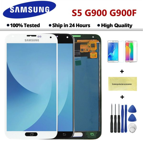 100 Test Lcd for Samsung Galaxy 4G S5 i9600 G900 G900M G900F Lcd Display Touch Screen 100% Test Lcd for Samsung Galaxy 4G S5 i9600 G900 G900M G900F Lcd Display Touch Screen Digitizer Assembly (not compatible G900H)