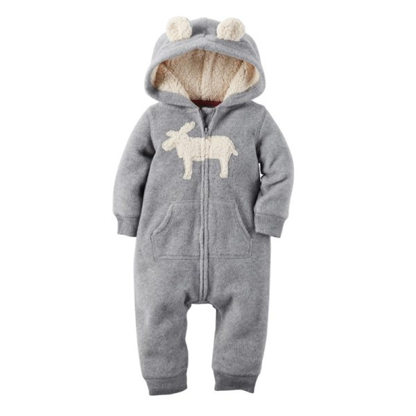 2018 New Bebes Clothes Newborn One Piece Fleece Hooded Jumpsuit Long Sleeved Spring Baby Girls Boys 1 2018 New Bebes Clothes Newborn One Piece Fleece Hooded Jumpsuit Long Sleeved Spring Baby Girls Boys Body Suits Romper