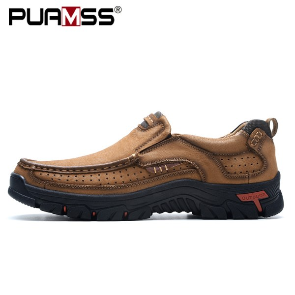 2019 New Men Shoes Genuine Leather Men Flats Loafers High Quality Outdoor Men Sneakers Male Casual 1 2019 New Men Shoes Genuine Leather Men Flats Loafers High Quality Outdoor Men Sneakers Male Casual Shoes Plus Size 48