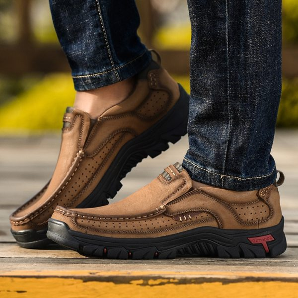 2019 New Men Shoes Genuine Leather Men Flats Loafers High Quality Outdoor Men Sneakers Male Casual 3 2019 New Men Shoes Genuine Leather Men Flats Loafers High Quality Outdoor Men Sneakers Male Casual Shoes Plus Size 48