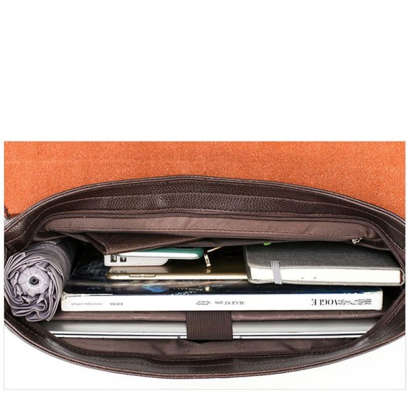 2020 Fashion Business Men Briefcase Leather Laptop Handbag Tote Casual Man Bag For male Shoulder Bag 4 2020 Fashion Business Men Briefcase Leather Laptop Handbag Tote Casual Man Bag For male Shoulder Bag Male Office Messenger Bag