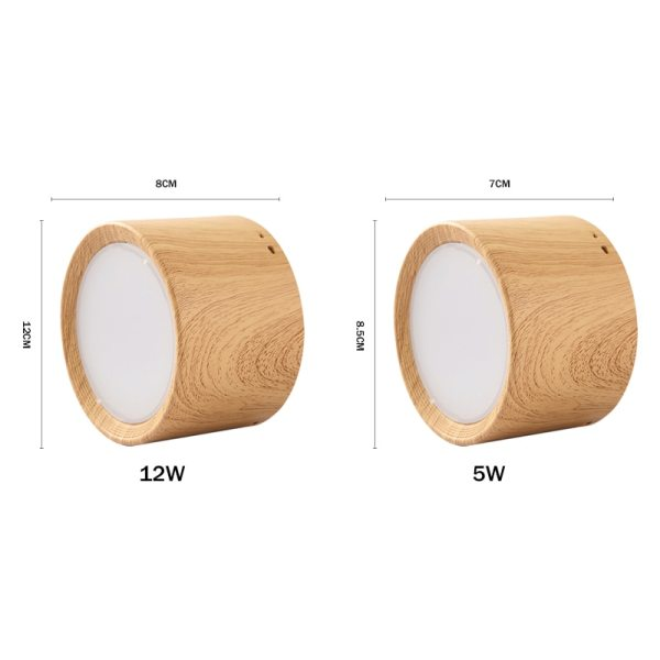 DBF High Bright Epistar CREE Ceiling Lights 3W 5W 7W 10W 12W 15W Nordic Wood 1 [DBF]High Bright Epistar CREE Ceiling Lights 3W 5W 7W 10W 12W 15W Nordic Wood Surface Mounted Ceiling Spot Light for Bar Kitchen