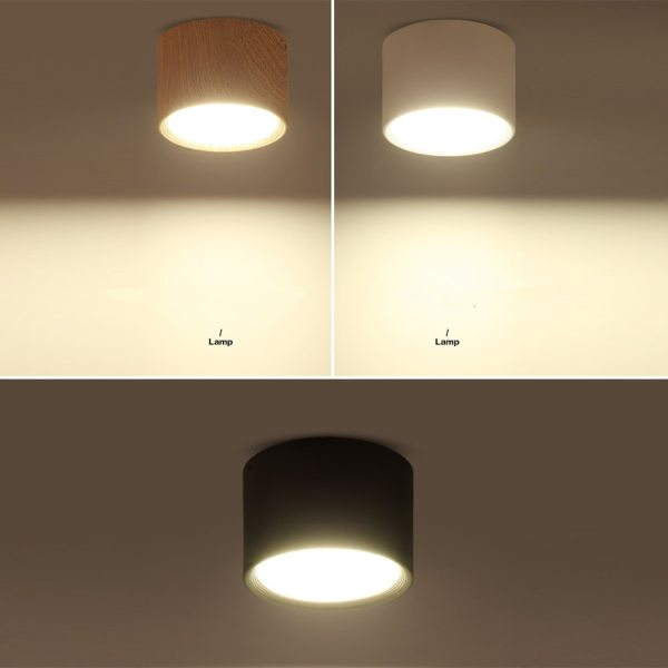 DBF High Bright Epistar CREE Ceiling Lights 3W 5W 7W 10W 12W 15W Nordic Wood 3 [DBF]High Bright Epistar CREE Ceiling Lights 3W 5W 7W 10W 12W 15W Nordic Wood Surface Mounted Ceiling Spot Light for Bar Kitchen