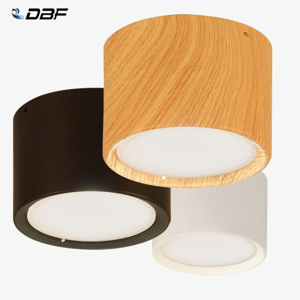 DBF High Bright Epistar CREE Ceiling Lights 3W 5W 7W 10W 12W 15W Nordic Wood [DBF]High Bright Epistar CREE Ceiling Lights 3W 5W 7W 10W 12W 15W Nordic Wood Surface Mounted Ceiling Spot Light for Bar Kitchen