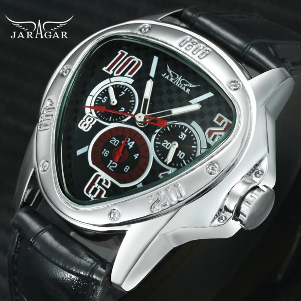 Fashion Luxury Men Automatic Mechanical Wrist Watches Top Brand WINNER Triangle Men s Watches 3 Sub Fashion Luxury Men Automatic Mechanical Wrist Watches Top Brand WINNER Triangle Men's Watches 3 Sub-dials 6 Hands reloj hombre