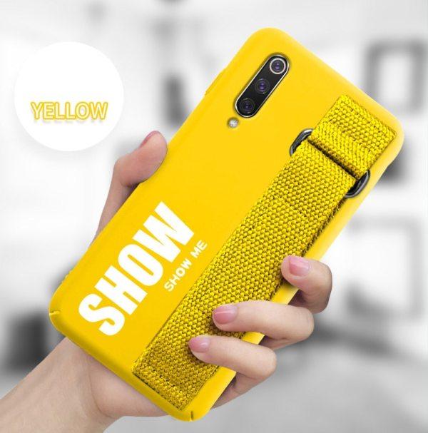 For Xiaomi Mi 9T 9 SE 8 Lite Pro 6 6X A2 A1 Note 10 For Xiaomi Mi 9T 9 SE 8 Lite Pro 6 6X A2 A1 Note 10 Max 2 3 Mix 2S CC9 CC9E Redmi K20 Case Silicon Matte Cover Hand Strap Funda